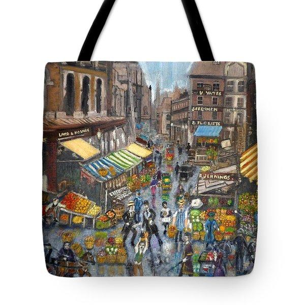 Street Scene Market Tote Bag