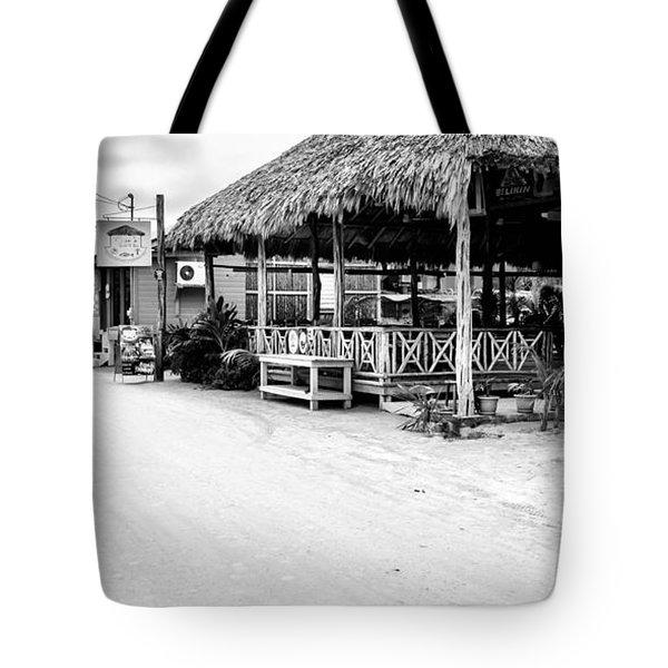 Street Scene On Caye Caulker Tote Bag