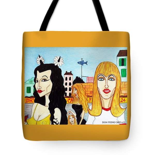 Street Scene With Sue Looking At You Tote Bag