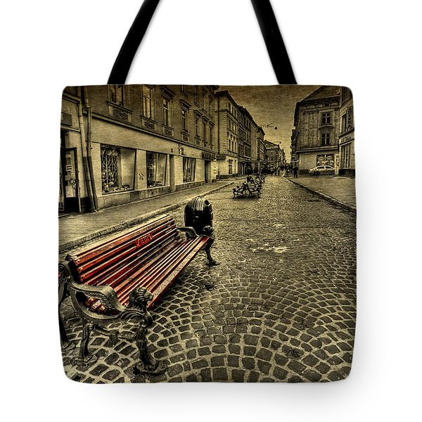 Street Seat Tote Bag by Evelina Kremsdorf