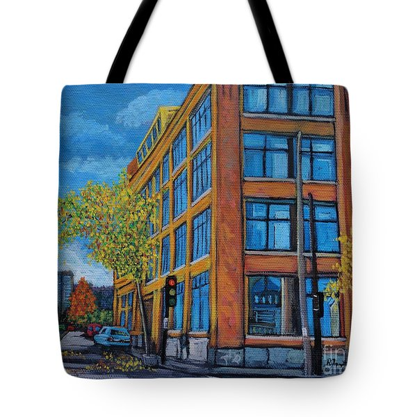 Street Study Montreal Tote Bag by Reb Frost
