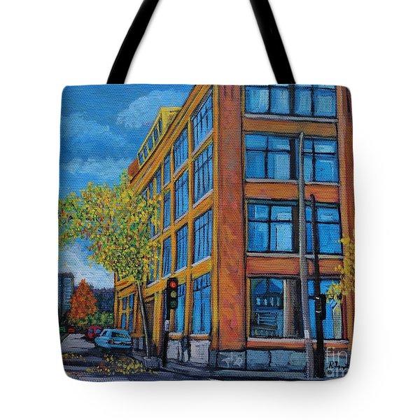Street Study Montreal Tote Bag