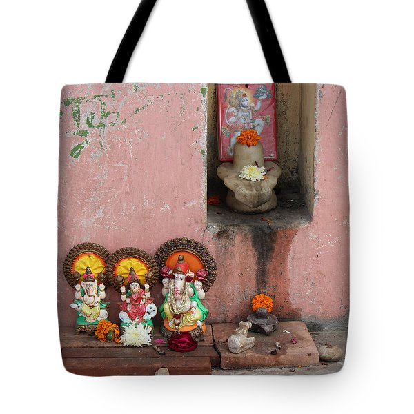 Street Temple, Haridwar Tote Bag by Jennifer Mazzucco