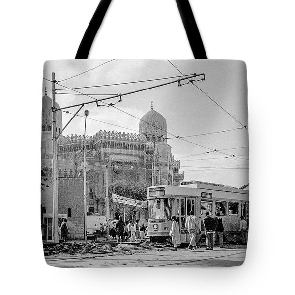 Streetcar In Egypt 1986 Tote Bag