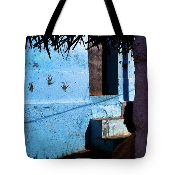 Streetcorner, Kanyakumari Tote Bag by Marji Lang