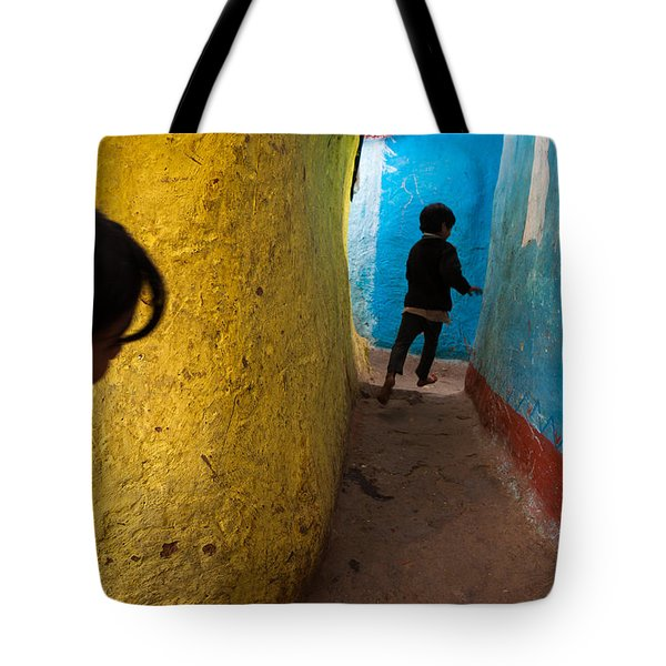 Streetcorner Tote Bag by Marji Lang