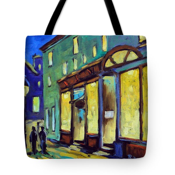 Streets At Night Tote Bag by Richard T Pranke