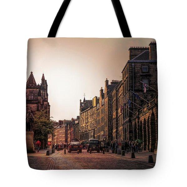 Streets Of Edinburgh Scotland  Tote Bag