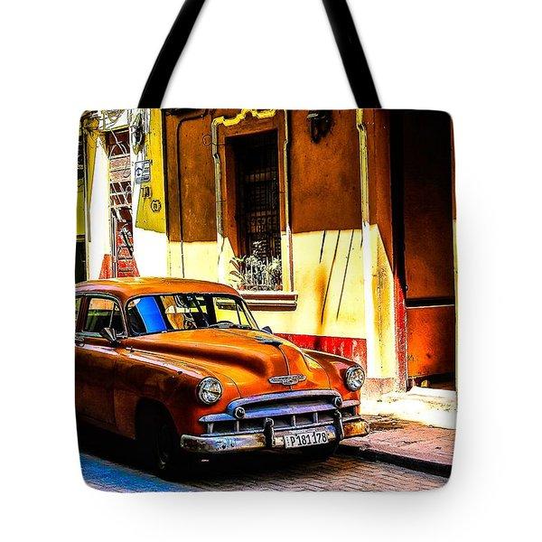 Streets Of Havana Tote Bag