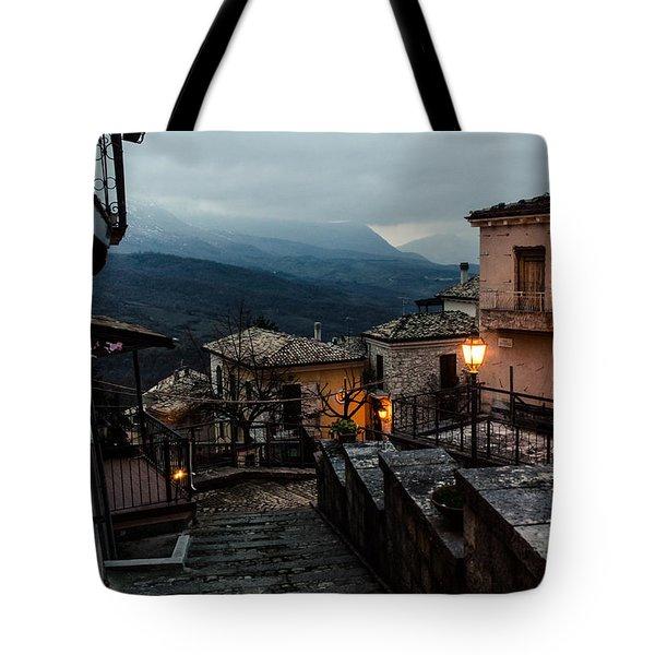 Streets Of Italy - Caramanico 3 Tote Bag by Andrea Mazzocchetti