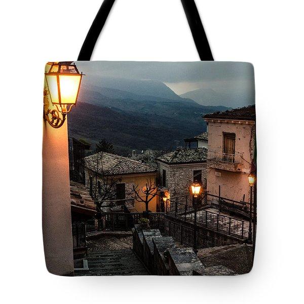Streets Of Italy - Caramanico Tote Bag by Andrea Mazzocchetti