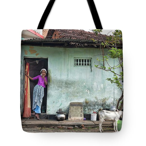 Streets Of Kochi Tote Bag by Marion Galt