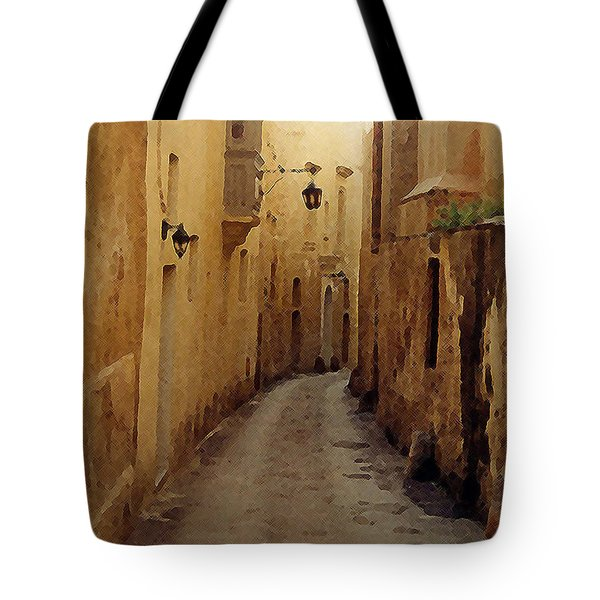 Tote Bag featuring the photograph Streets Of Malta by Debbie Karnes