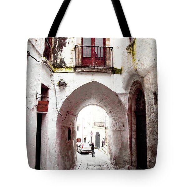 Streets Of Ostuni Tote Bag