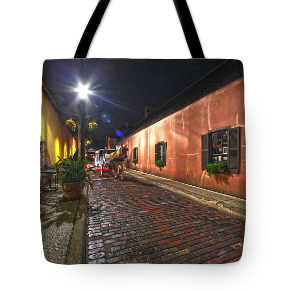 Streets Of St Augustine Tote Bag by Robert Och