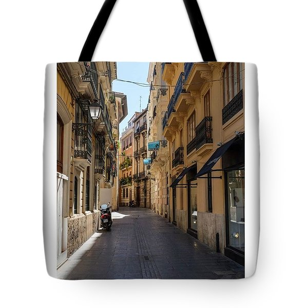 Streets Of Valencia, Spain.  #europe Tote Bag