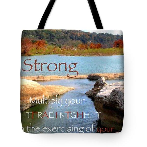 Strength Multiplied Tote Bag