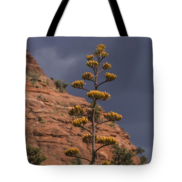 Stretching Into A Threatening Sky Tote Bag