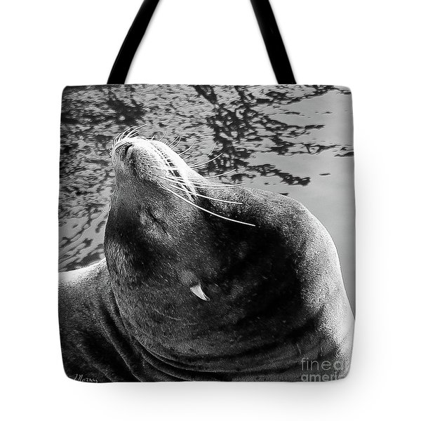 Stretch, Black And White Tote Bag