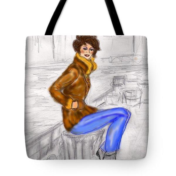 Strike A Pose Tote Bag by Desline Vitto
