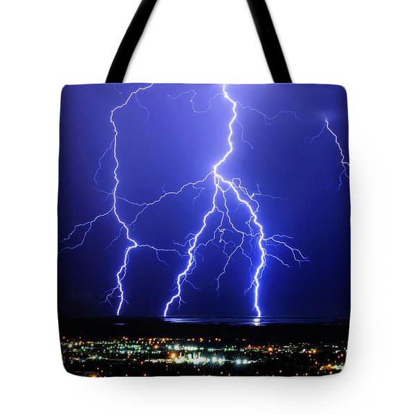 Tote Bag featuring the photograph Strike Four by Bryan Carter