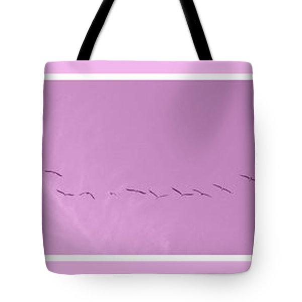 String Of Birds In Rose Pink Tote Bag