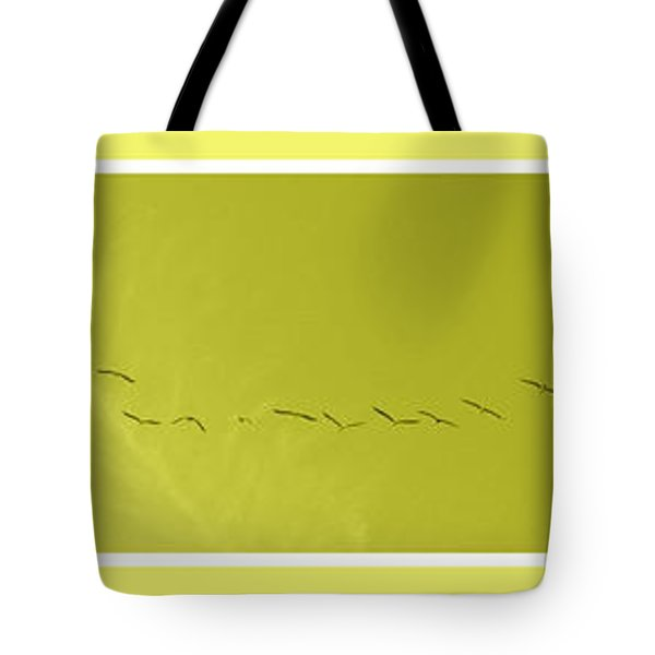 String Of Birds In Yellow Tote Bag