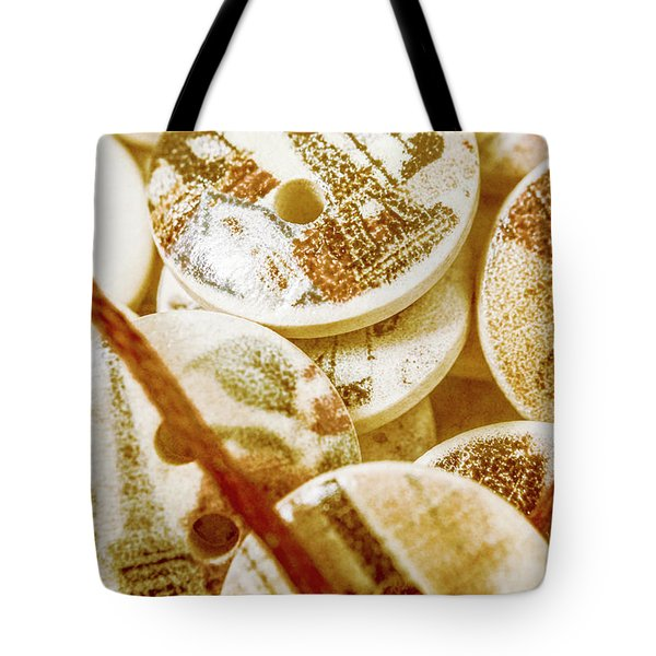 String Of Buttons Tote Bag