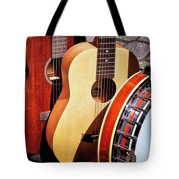 Strings Attached Tote Bag by Wallaroo Images