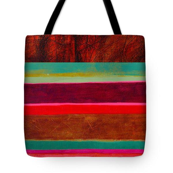 Stripe Assemblage 1 Tote Bag