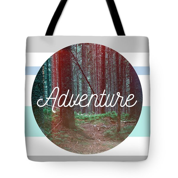 Striped Adventure Tote Bag