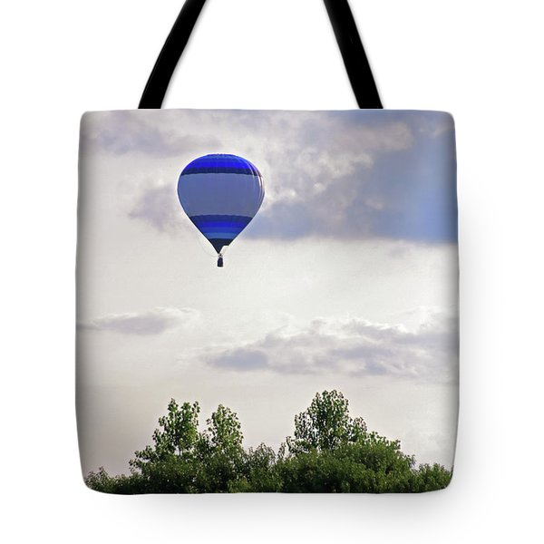 Tote Bag featuring the photograph Striped Balloon by Angela Murdock