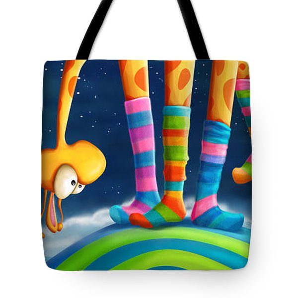 Striped Socks - Revisited Tote Bag