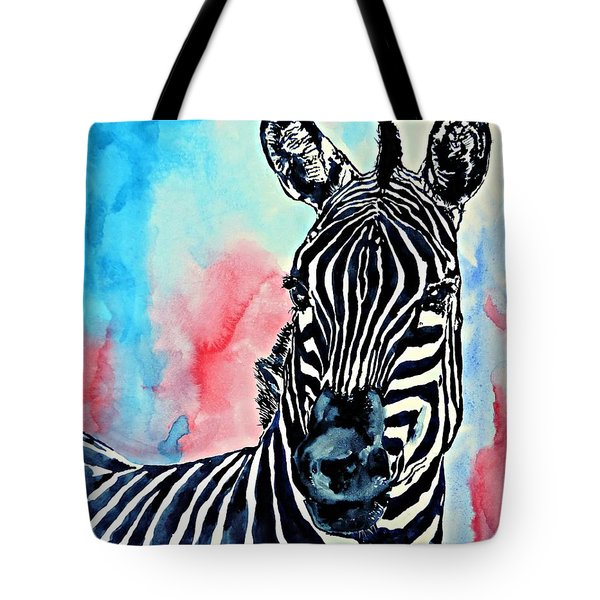 Stripes And A Mohawk Tote Bag