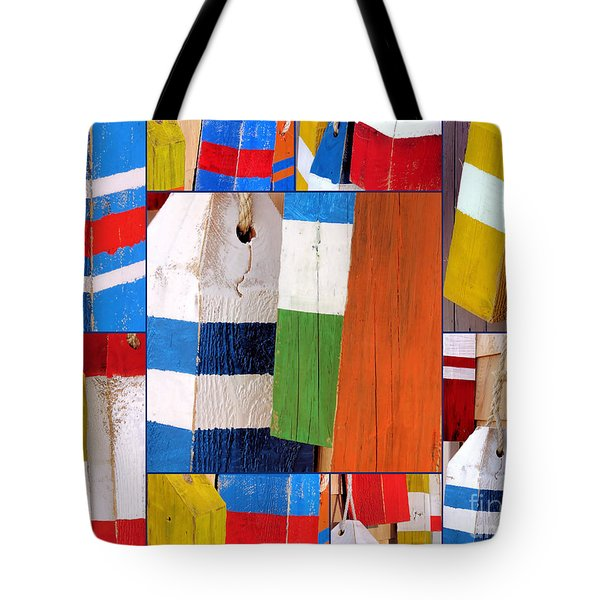 Stripes And Solid Buoys  Tote Bag