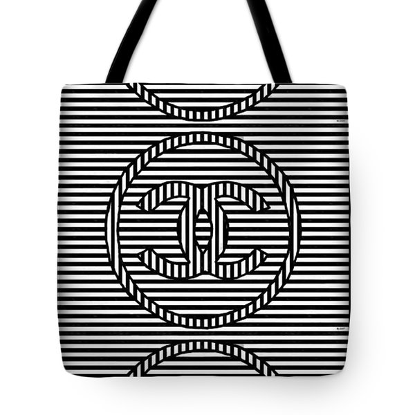 Stripes Black And White Tote Bag