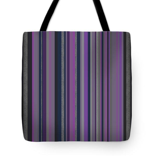 Stripes In Grayed Lavender Tote Bag