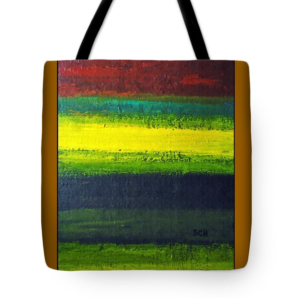 Stripes Number 3 Tote Bag by Scott Haley