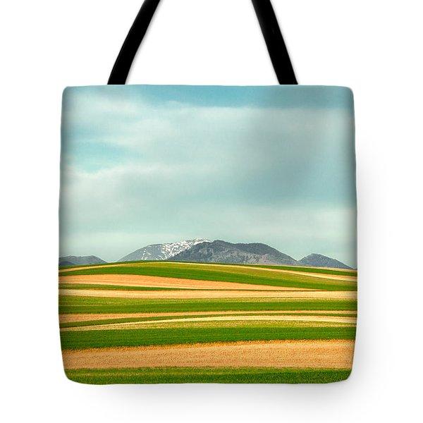Stripes Of Crops Tote Bag