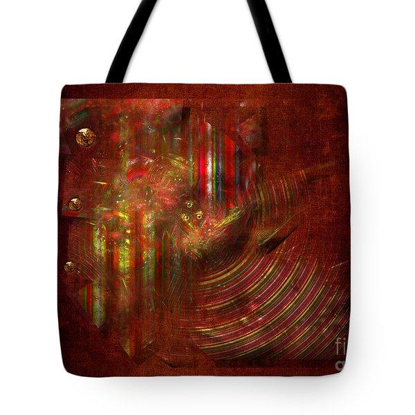 Tote Bag featuring the digital art Strips by Alexa Szlavics