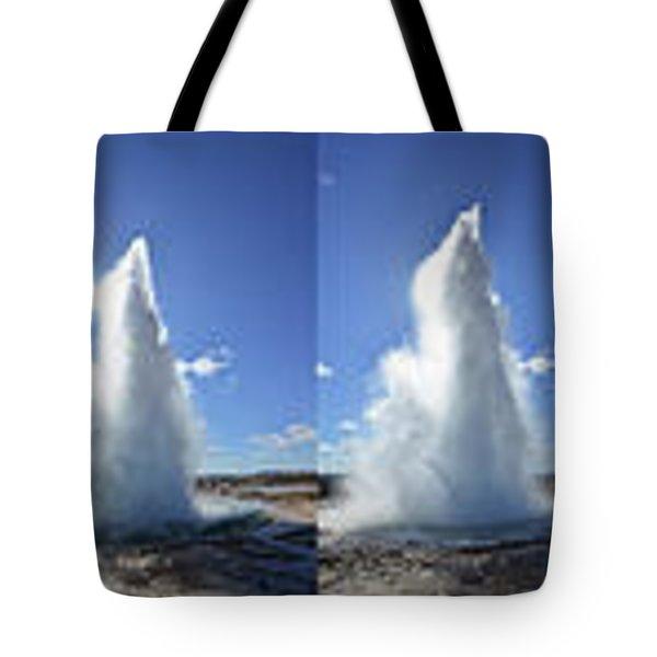 Strokkur Geyser Erupting Tote Bag
