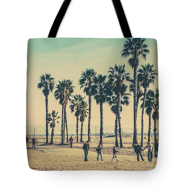 Stroll Down Venice Beach Tote Bag