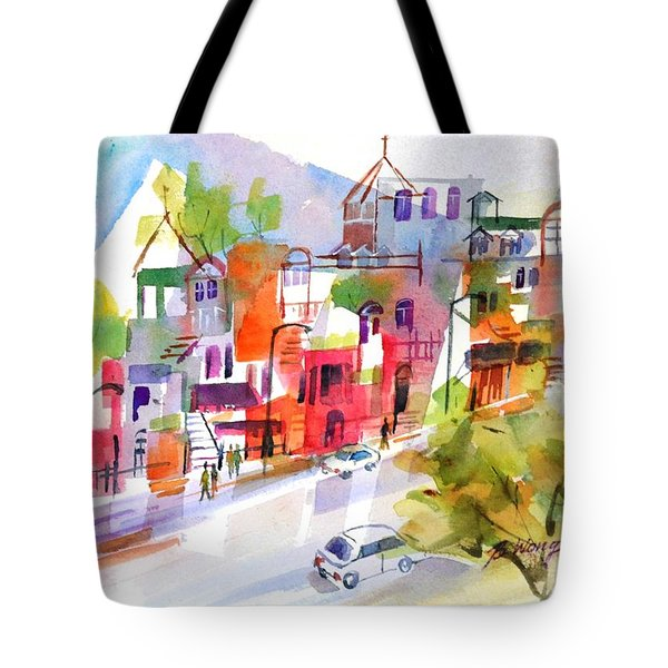 Stroll In Montreal Tote Bag by Betty M M Wong