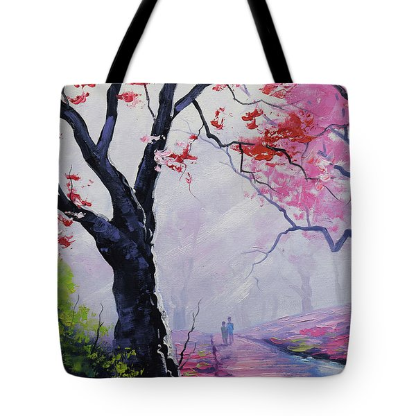Stroll In The Mist Tote Bag