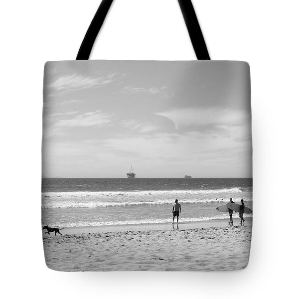 Strollin On Dog Beach Tote Bag