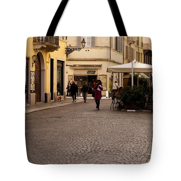 Strolling About Parma Tote Bag by Rae Tucker