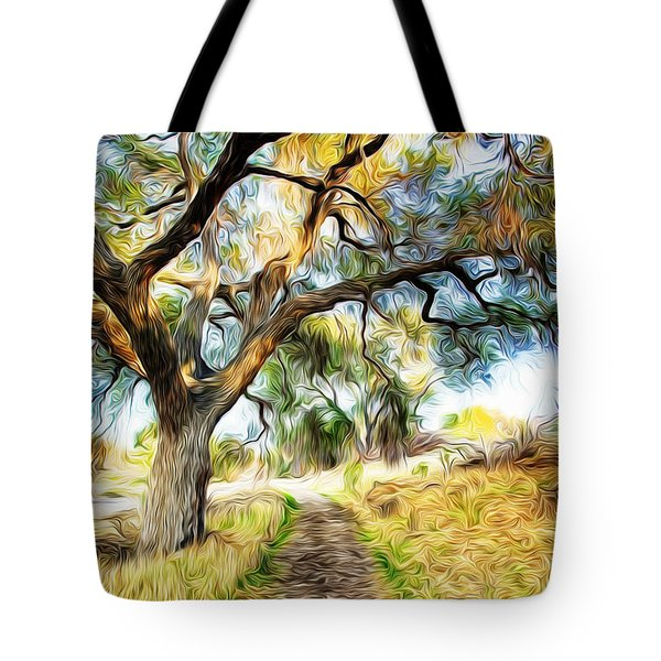 Strolling Down The Path Tote Bag