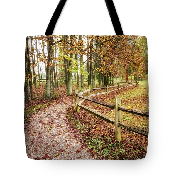Strolling Through Autumn Tote Bag