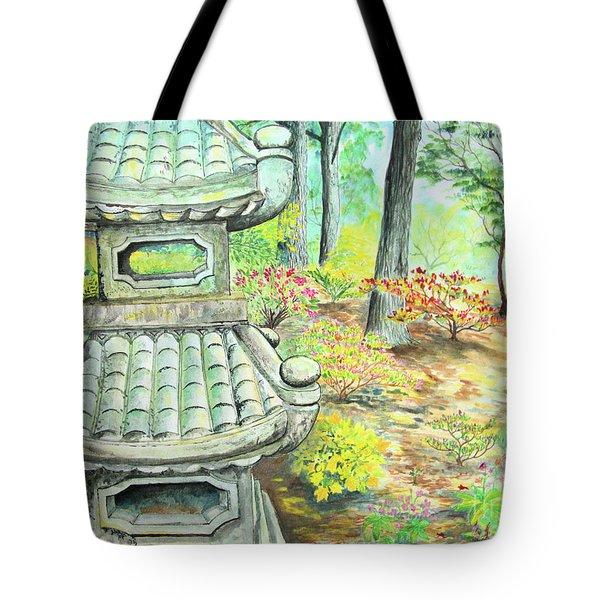 Strolling Through The Japanese Garden Tote Bag