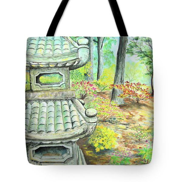 Strolling Through The Japanese Garden Tote Bag